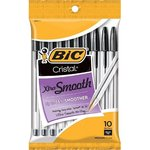 Pen Bic Cristal Black 10-PK Xtra Smooth