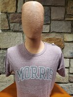 Victory Falls Twisted Triblend Tee Heathered Burgundy- S